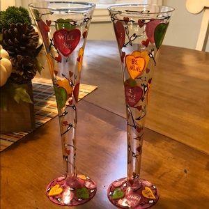 "NWOT Lolita ""LOVE"" Champagne Flutes"
